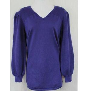 Style&CO M Iris V Neck Sweater 6AO57